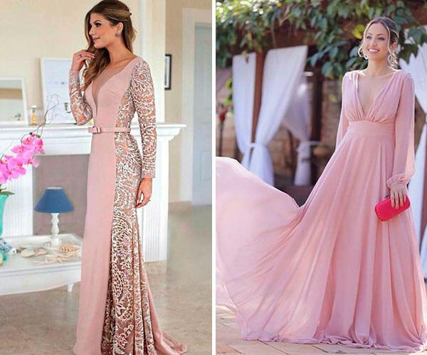 vestidos de festa com manga longa