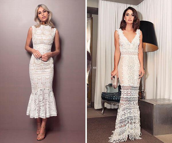 vestidos de festa brancos