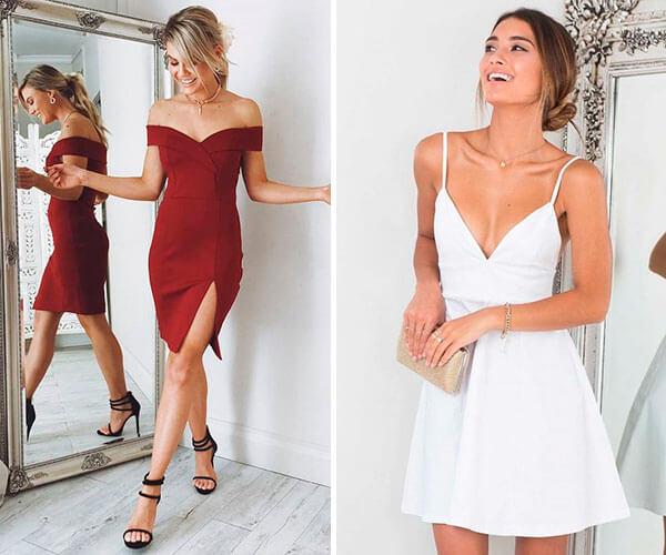 vestidos de festa curtos e vetidos de festa com fenda