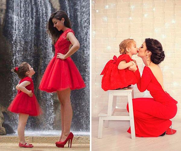vestidos de festa para mãe e filha