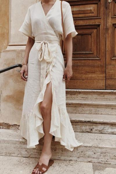 Look com tecidos naturais moda verao