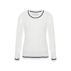Blusa tricô matelassê oversized off white