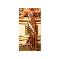 Vestido Paetê Gold