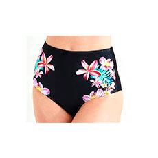 biquíni calcinha hot pant com estampa floral