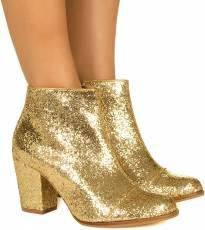 Bota De Glitter Dourada