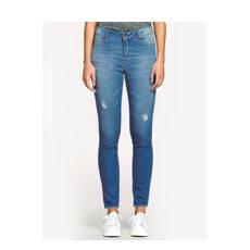 Calça Jeans Feminina Super Skinny Com Cintura Alta