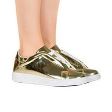 Tênis ouro light holográfico specchio Taquilla