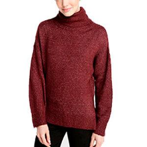 Suéter Tricot Gola Alta - Vinho