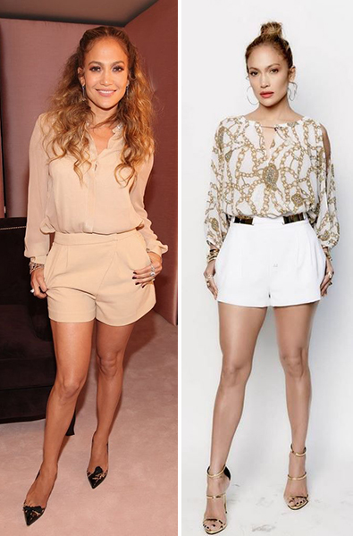 looks com short e perna grossa Jennifer Lopez
