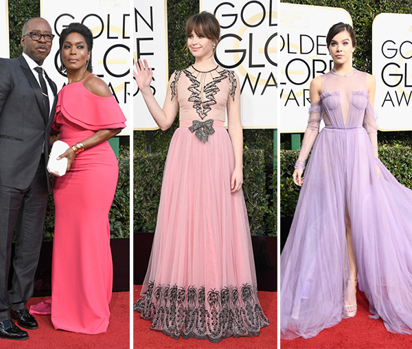 looks cor de rosa golden globe