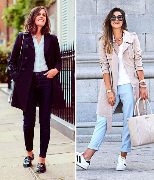 como usar trench coat look casual