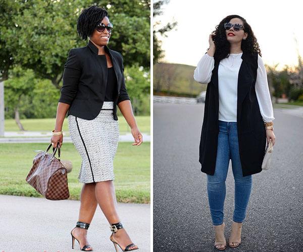 colete na moda plus size