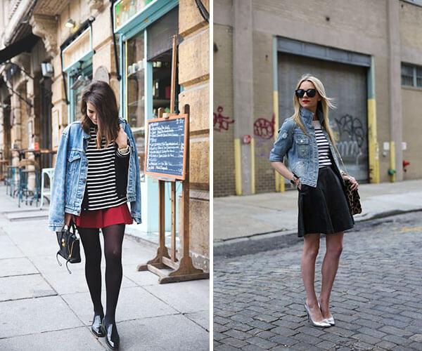 jaqueta jeans romântica