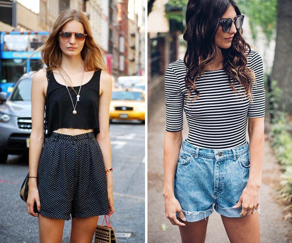 shorts com cropped
