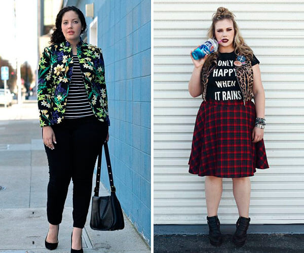 mix de estampas plus size