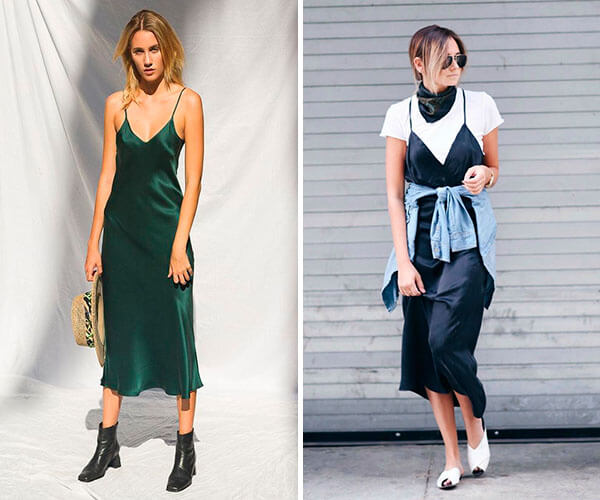 como usar o slip dress