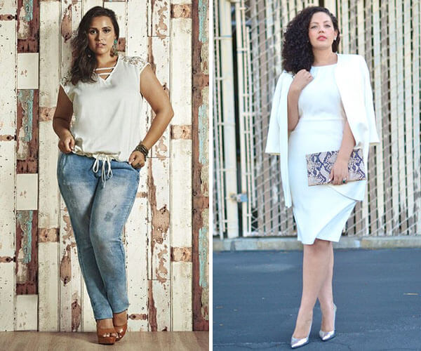 looks com branco plus size