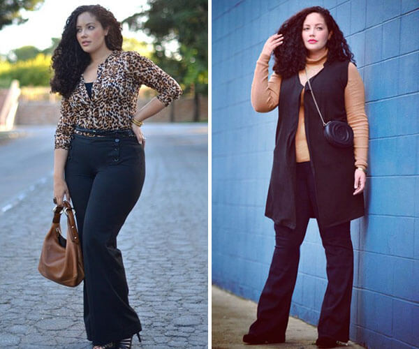 561bc448c Pantalona ou Pantacourt. Outro modelo de calça que valoriza muito o corpo  da mulher Plus Size ...