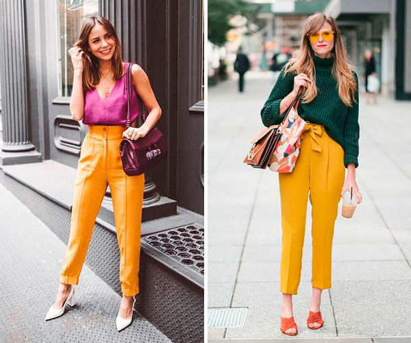 look casual com mix de cores