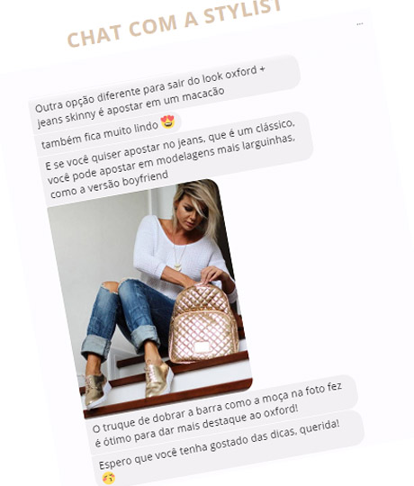 chat com personal stylist online